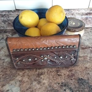 American West Studded Leather Wallet